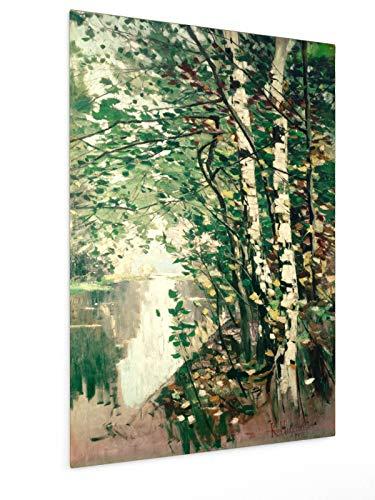 weewado Karl Hagemeister - Árboles de Abedul por un río -