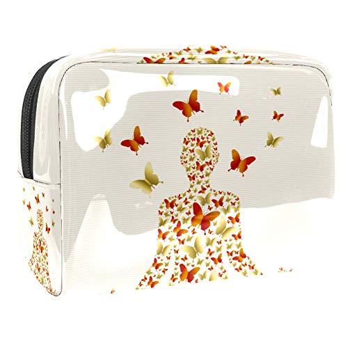 Trousse de toilette multifonction pour femme avec papillon, méditation
