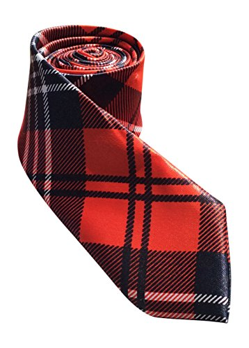 Divine - Cravate tartan rouge (Red Tartan Tie)