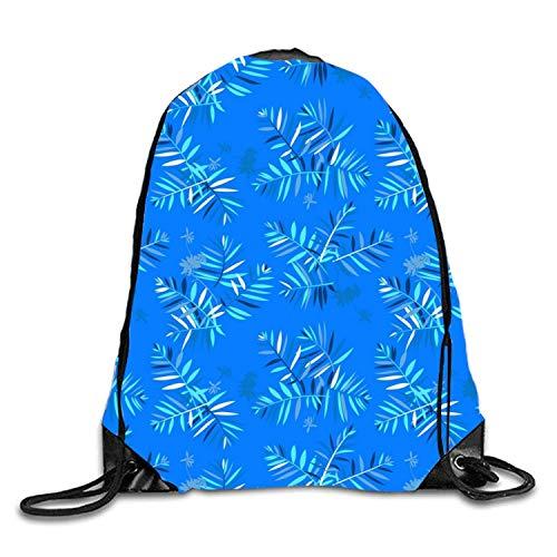 uykjuykj Bolsos De Gimnasio,Mochilas,Elephant Sheeps Sackpack Drawstring Backpack Waterproof Gymsack Daypack For Men Women Tropical Feather5 Lightweight Unique 17x14 IN