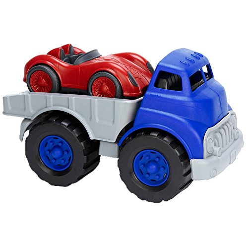 GREEN TOYS TRANSPORT AUTO + VOITURE DE COURSE