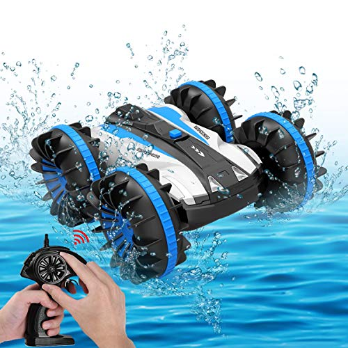 Seckton Toys for 6-10 Year Old Boys Amphibious RC Car for Kids 2.4 GHz Remote Control Boat Waterproof RC Monster Truck Stunt Car 4WD Remote Control Vehicle Girls All Terrain Christmas Birthday Gifts