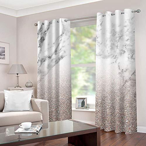 LWXBJX Opacas Cortinas Dormitorio - Textura Pizarra Blanca - Impresión 3D Aislantes...