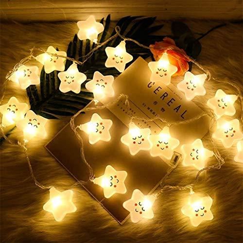 ZUOLUO Ghirlanda Luminosa LED Lucine LED Decorative Luci a Stringa a LED per la Decorazione Luci delle Fate della Batteria Fata Luci per Camera da Letto Star