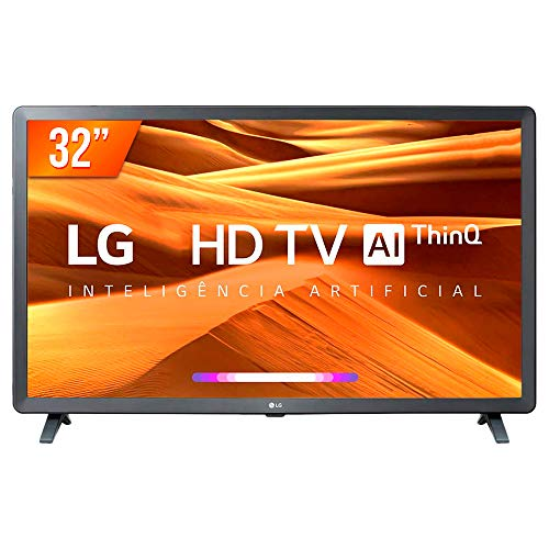 "Smart TV LED 32"" HD LG 32LM621CBSB.A, 3 HDMI, 2 USB, Bluetooth, Wi-Fi, Active HDR, ThinQ AI"