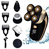 DOTSOG Electric Shaver Razor for Men,Waterproof 4D Floating Head Shaving Bald Head Shaver 5 in 1 Grooming Kit Beard Trimmer with Pop-up Trimmer Waterproof USB Fast Charging