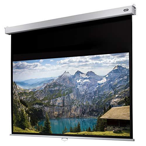 celexon manuell ausziehbare Heimkino- und Business-Rollo-Beamer-Leinwand 4K und Full-HD mit Slow-Return Professional Plus - 240 x 150 cm - 16:10