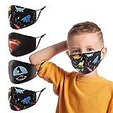 Kids Face Mask Reusable Washable(Pack of 4),Adjustable Earloop Face Masks Bandanas Face Cover,Cotton Face Mask for Kids