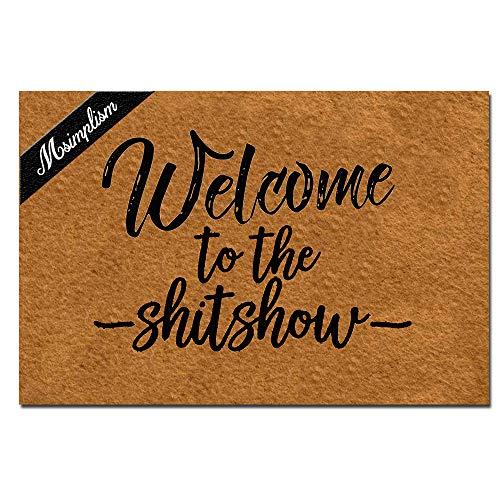 Msimplism.D Doormat Home Decor Funny Doormat Welcome to The Shitshow Monogram Doormat Indoor Outdoor...
