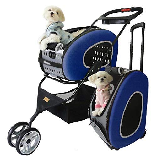 YAGEER chunwubao Huisdier kinderwagen kat-/hond trolley geval, hand vouwfiets, multi-functie, voedsel opslag mand, 4 ronde waterdichte pad grote en middelgrote hond laden 30 kg