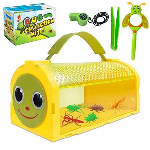 ESSENSON - Juguete para exteriores, regalo para 3, 4, 5, 6, 7, 8 años, kit de recogida de insectos para niños y niñas