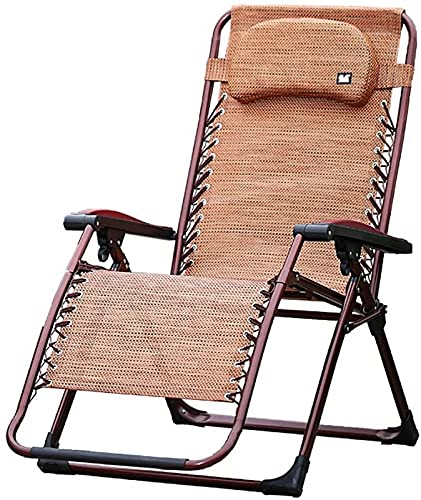 QHCS Tumbonas Silla Plegable para jardín Sillones reclinables Resistentes Silla Plegable Silla para el Almuerzo Sillón para la Siesta Silla para la Siesta de Oficina Silla para Embarazadas Que se