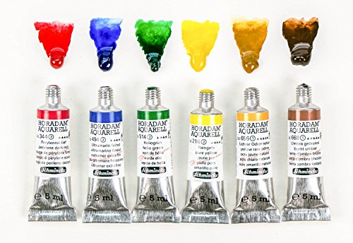Schmincke Horadam Artists Watercolour Trial Set - Colour Selection 1 (5ml tubes)