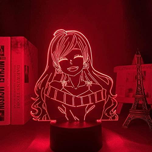 3D noche lámpara anime ilusión lámpara 3D LED lámpara anime otome obediencia con MC para dormitorio decorativo noche luz regalo cumpleaños 16 colores