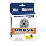 Pro-Sense 5 Flea and Tick Prevention for Dogs 33-66 lbs - 3-Month Supply