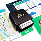 VYNCS Premium: No Monthly Fees GPS Tracker OBD 4G LTE Tracking Device for Cars Vehicle Trips Teen Driver Safety Roadside Assistance VPOBDGPS1