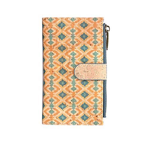 Cartera de Mujer con Monedero, Billetera de Mujer con Cremallera, Original de Corcho ecológico Portugués de diseño. (H1612218)