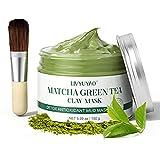 Green Tea Clay Facial Mask, LIVYUYAO Matcha Clay Mask with Volcanic Mud, Deep Washing Blackhead...