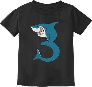 TeeStars - 3rd Birthday Shark Party Gift for 3 Year Old Toddler Kids T-Shirt