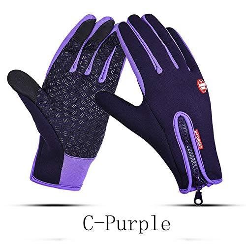 Neue Winter Outdoor wasserdichte Mann Handschuhe Lady Touchscreen Winddicht Reiten Reißverschluss Sport warme Fleece Bergsteigen Ski Handschuhe-a18-b1