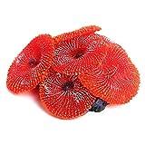 SHAOXI Azul Rojo Verde Decoración de Acuario Artificiales de Resina Coral Sea Ornamento Planta de Silicona no tóxico (Color : Red)