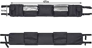 "UTV Roll Cage Organizer Case, ATV Roll Cage Cargo Bag, UTV Roll Cage Gear Bags Storage Bag, Large Capacity Size 47""Lx7.5""W, Great Tools Storage Solution for Polaris, Yamaha and Kawasaki UTVs"