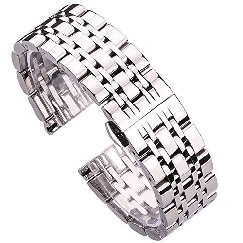 Love+djl Bracelets de Montre 18 mm 20 mm 22 mm Montre en Acier Inoxydable Bracelet Bande d'argent Poli Hommes de Accessoires de Remplacement en métal Bracelet Bracelet