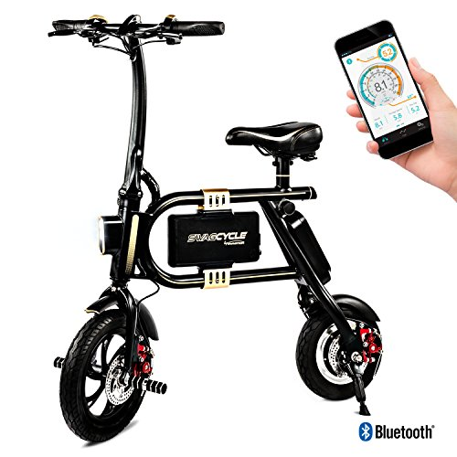 Swagtron SwagCycle Classic E-Bike - Folding Electric Bicycle with 10 Mile Range, Collapsible Frame, and Handlebar Display