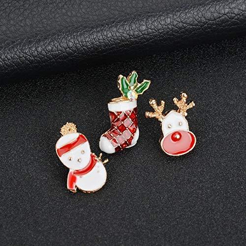 MZFRXZ broche creatieve kerstman kerstbomen sokken hoed sok strass broches voor vrouwen cadeau