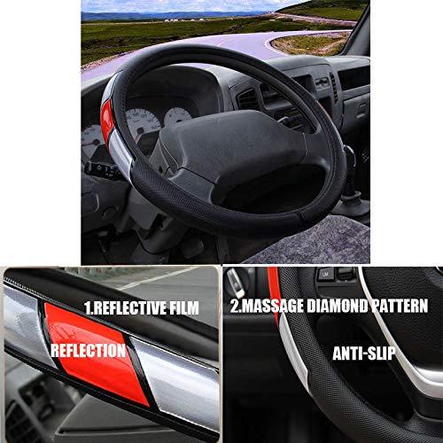 ZJWZ Coche Auto automóvil vehículo automotriz 42-50CM Cubierta del Volante del Carro para el tamaño Universal 42-50CM Scania R, P y Serie S,45cm