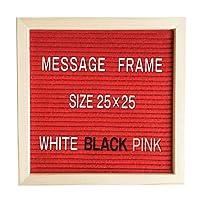 Tierneys [ティアニーズ]レターボード コルクボード 掲示板 アルファベットボード メッセージボード 看板 文字3色付き (赤)