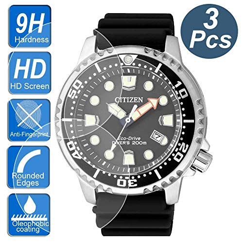 [3-Pcs ] for Citizen BN0150-28E/BN0151-09L Watch Screen Protector,2.5D Rounded Edges 9H Premium Real Tempered Glass Screen Protector for Citizen BN0150/BN0151 Watch Anti Scratch,Anti-Fingerprint BUBB