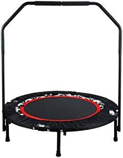 "Foldable Fitness Trampoline,With Handle Exercise Rebounder For Indoor Garden Workout,Portable""Max Load 0 Lbs Trampoline A ..."