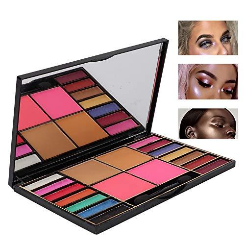 18 Colores paleta de sombra de ojos, Polvo cosmético para sombra de ojos impermeable y mate y brillo