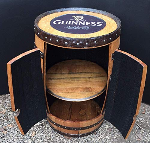 In solido legno di quercia stile irlandese Guinness Barrel 'Alfie' Armadietto per bevande
