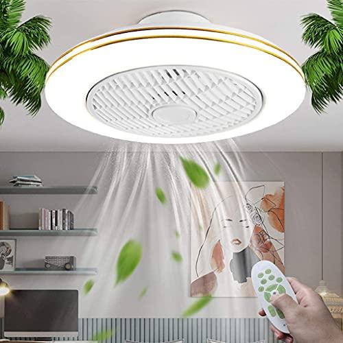 Ventilador de Techo con Luz LED Invisible Silencioso Lámpara de Fan con Control Remoto Regulable y Cronometrado Luz de Ventilador para Dormitorio Cuarto de los Niños Oficina Ajustable 3 Velocidades