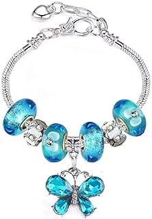 White Birch Charm Bracelets for Women and Girls - Fit Pandora Bracelet DIY Jewelry Green