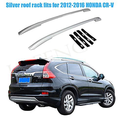 LAFENG Baca plateada para portaequipajes de techo Honda CR-V 2012-2016, 2 piezas de aleación de aluminio para portaequipajes de techo