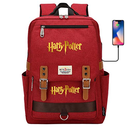 DDDWWW Fashion Student Backpack Casual School School Bag Unisex Travel Outdoor Backpack HarryPotter red