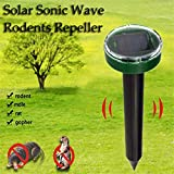 2Pcs Outdoor Garden Mole Repellent Solar Power Ultrasonic Mole Snake Bird Mosquito Mouse