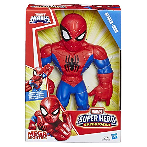 Hasbro Playskool Heroes,E4147ES0, Playskool Heroes Marvel Super Hero Adventures Mega Mighties Spider-Man, 25 cm große Actionfigur NA