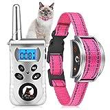 Paipaitek Cat Training Collar, No Shock Cat Collar with Remote, Humane Cat Meow Collar w/Beep and...