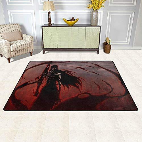 Lee My Area Teppich Anime Cartoon Fußmatte Manga Japan Cartoon Comics Serie Rechteckiger Teppich Dekor Boden Teppich für Küche Wohnzimmer Schlafzimmer, plastik, B, 24