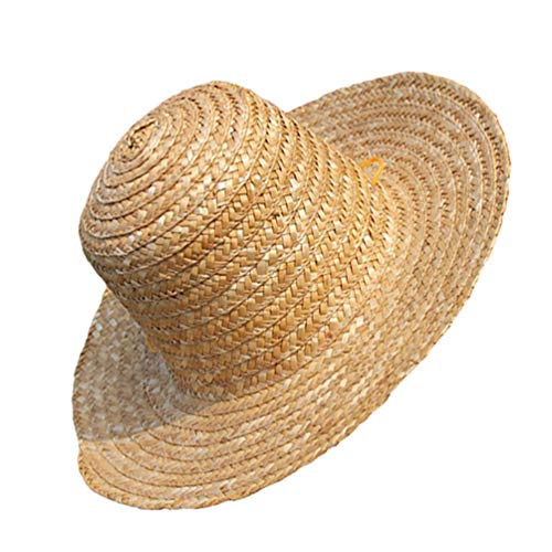 SOIMISS Sombrero de Paja de Verano Gorra Asiática Gorra Enrollable Gorra de Sol de Playa Sombrero de Viaje Al Aire Libre Sombrilla Anti- UV Gorra de Verano para Camping de Playa de Viaje