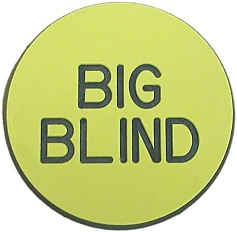 TMG Casino Quality Big Blind excellence Chicago Mall Poker Double Dealer Sided Button -