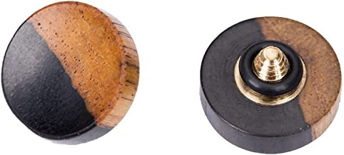 VKO Wood Soft Shutter Release Button Compatible for Fujifilm X-T30 X-T3 X100F X-T20 X-T2 X-E3 X-PRO2 X30 X100T X100S X-E2S X-T10 Camera 12mm Concave Surface Special Color 1 PCS (Wood Grain Random)