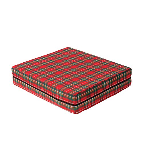 DMI Foam Seat and Wheelchair Cushion with Cover, Supportive Comfort Foam, 4 x 16 x 18 Inch, Plaid