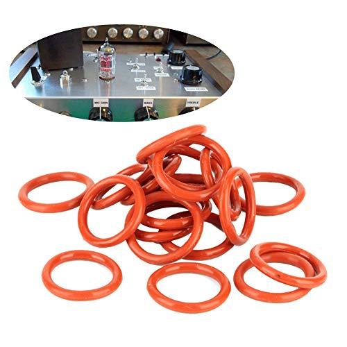 Anillo amortiguador de silicona anillos aptos para 12AX7 12AU7 12AT7 12BH7 EL84 20 piezas