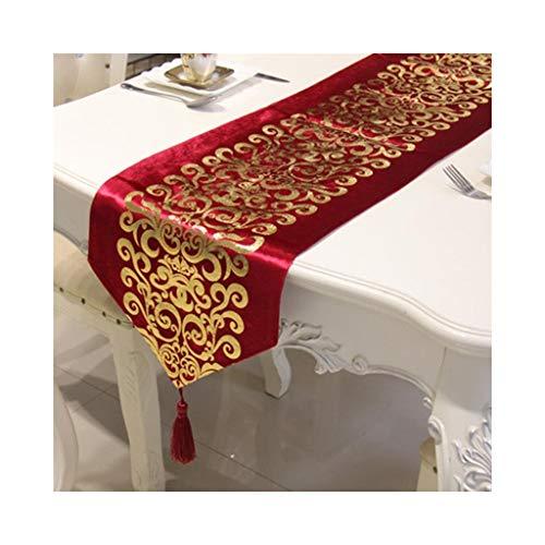 Moderne onbelangrijke modetafelvlag, moderne Chinese tafelkleedstof koffietafellaken tafellaken bedvlaggen-beddenlaken 33 * 250cm A