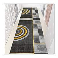 ZEMIN 廊下敷きカーペット、滑り止めの裏地付きの切断可能な正面玄関マット、玄関廊下階段キッチン用の長い床のカーペット、厚さ0.6cm (Color : A, Size : 1.1mx1m)